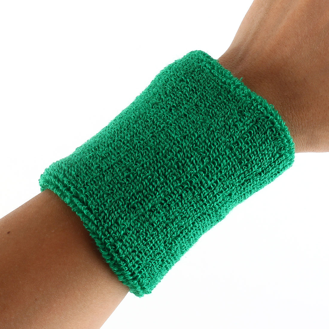 Exercises Gym Running Elastic Breathable Hand Protector Bandage Sweatband Wristband Sport Wrist Green Pair2pcs