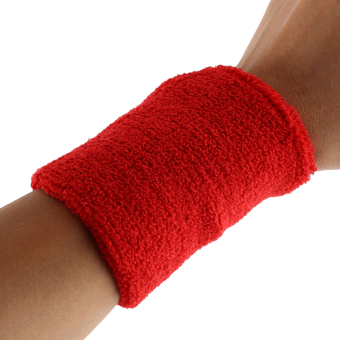Exercises Gym Running Elastic Breathable Hand Protector Bandage Sweatband Wristband Sport Wrist Red 2pcs