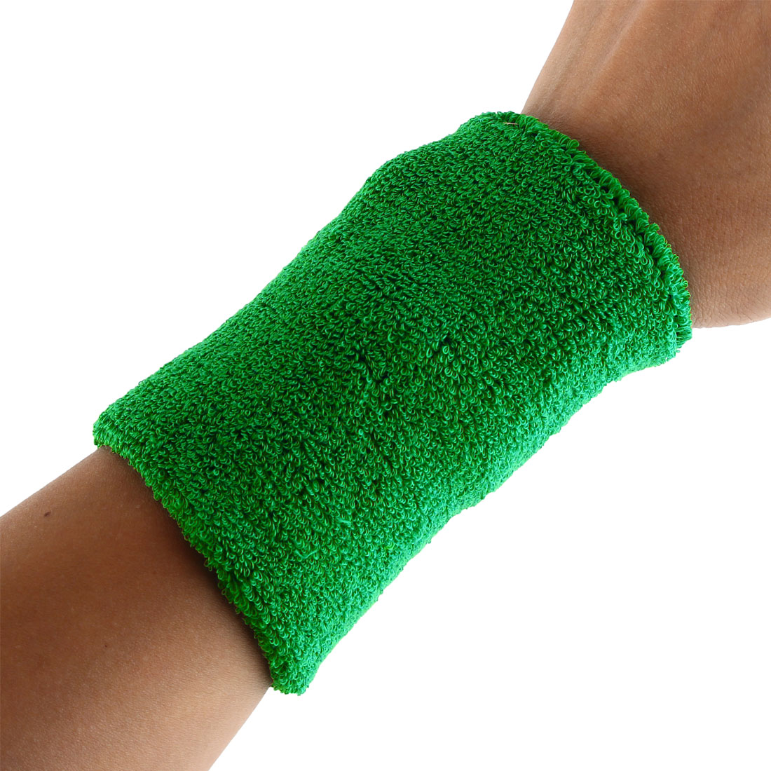 Exercises Football Gym Elastic Strap Hand Protector Sweatband Sport Wrist Green 2pcs