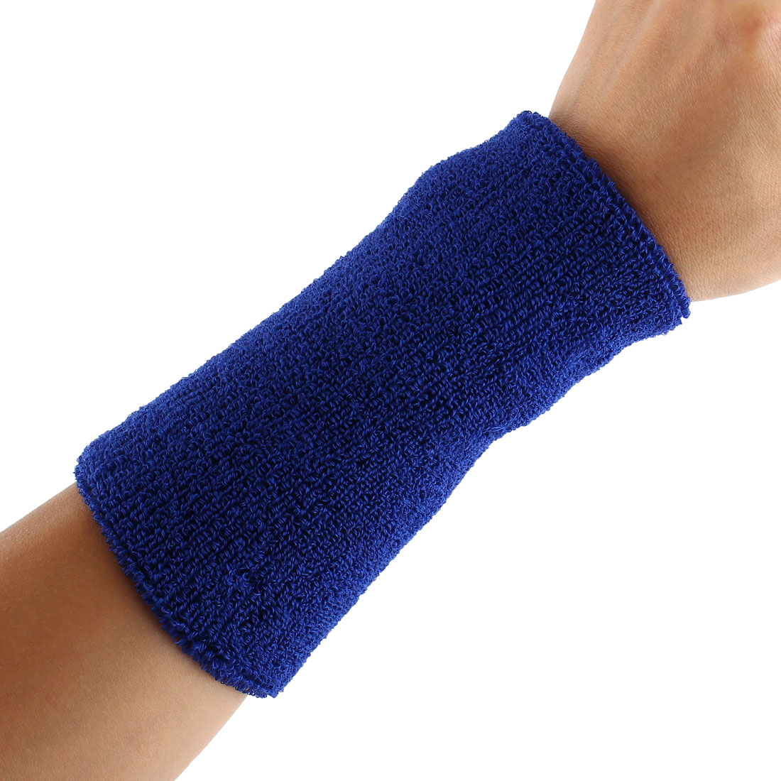 Exercises Basketball Running Hand Support Bandage Sweatband Wristband Sport Wrist Blue 15cm Long 2pcs