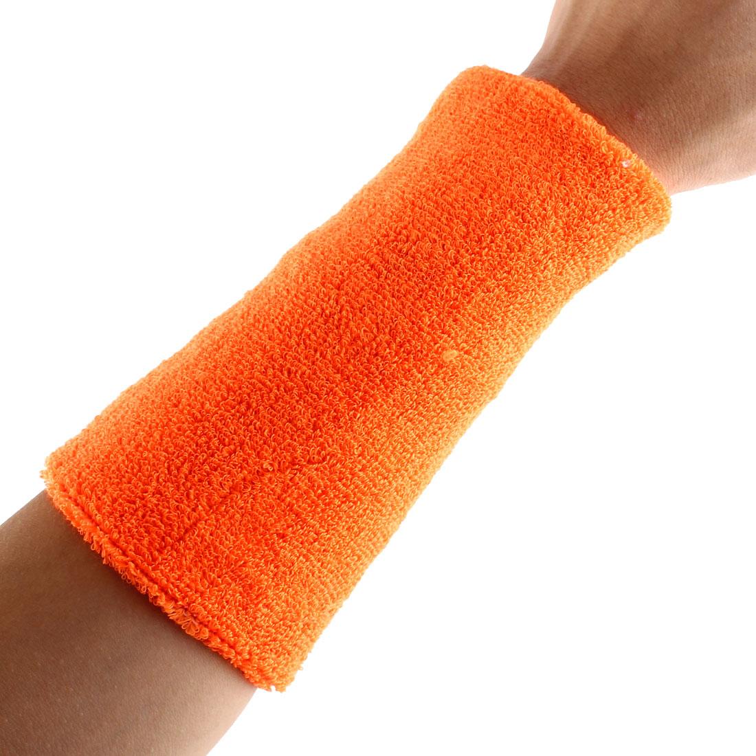 Exercises Basketball Running Hand Support Bandage Sweatband Wristband Sport Wrist Orange 15cm Long 2pcs