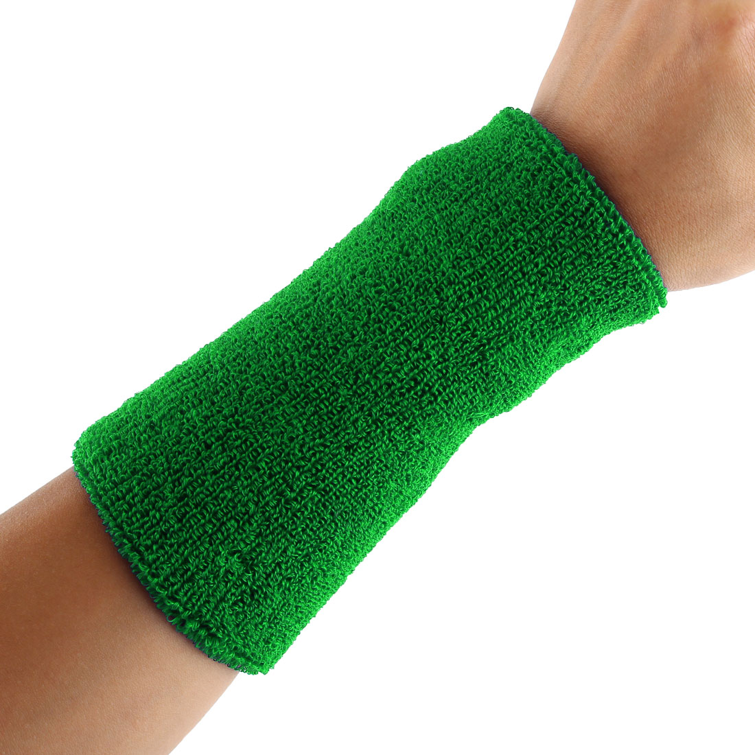 Exercises Basketball Running Hand Support Bandage Sweatband Wristband Sport Wrist Green 15cm Long 2pcs