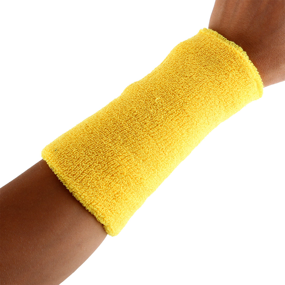 Exercises Basketball Running Hand Support Bandage Sweatband Wristband Sport Wrist Yellow 15cm Long 2pcs