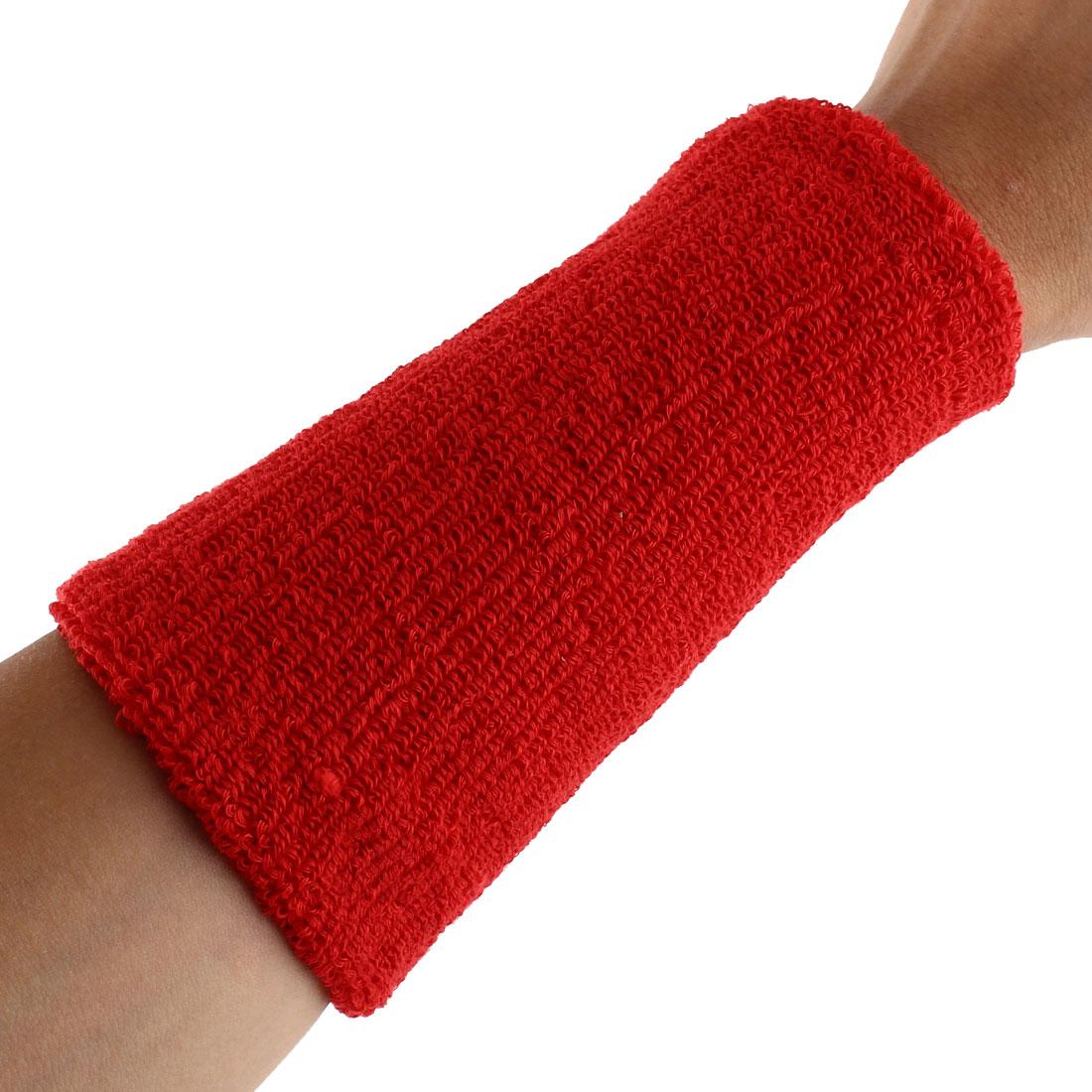 Exercises Basketball Running Hand Support Bandage Sweatband Wristband Sport Wrist Red 15cm Long 2pcs