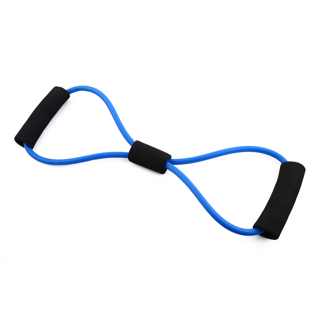 Gymnasium 8 Shape Powerlifting Workout Resistance Tube Strength Training Rope Fitness Exercise Hose Blue