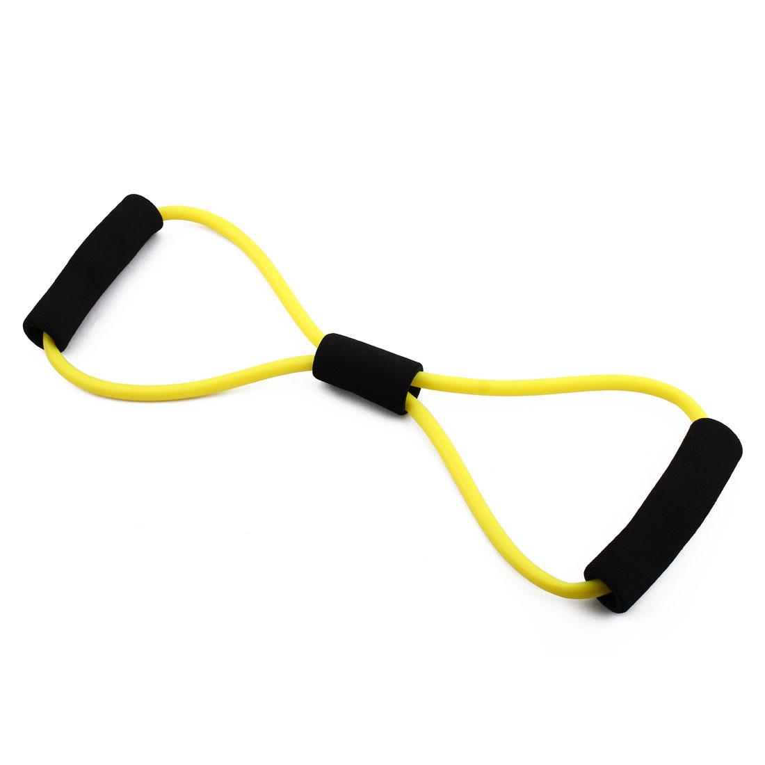 Gymnasium 8 Shape Powerlifting Workout Resistance Tube Strength Training Rope Fitness Exercise Hose Yellow