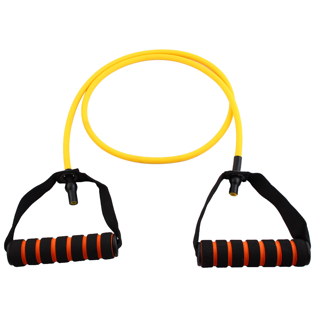 Sports Door Anchor Stretchy Powerlifting Resistance Tube Strength Training Rope Workout Hose Yellow