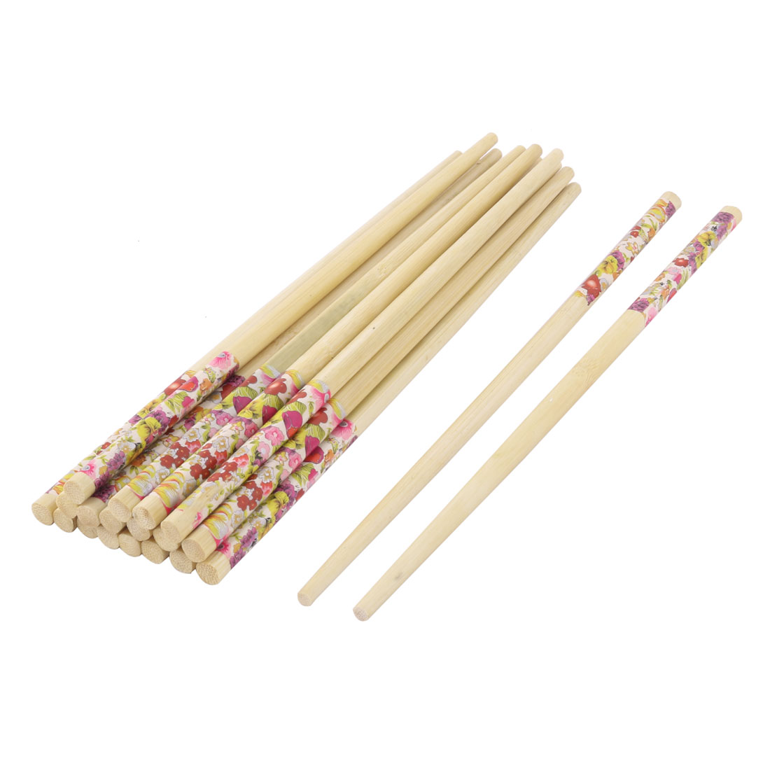 Home Tableware Bamboo Non-slip Eating Food Meat Chopsticks Multicolor 10 Pairs