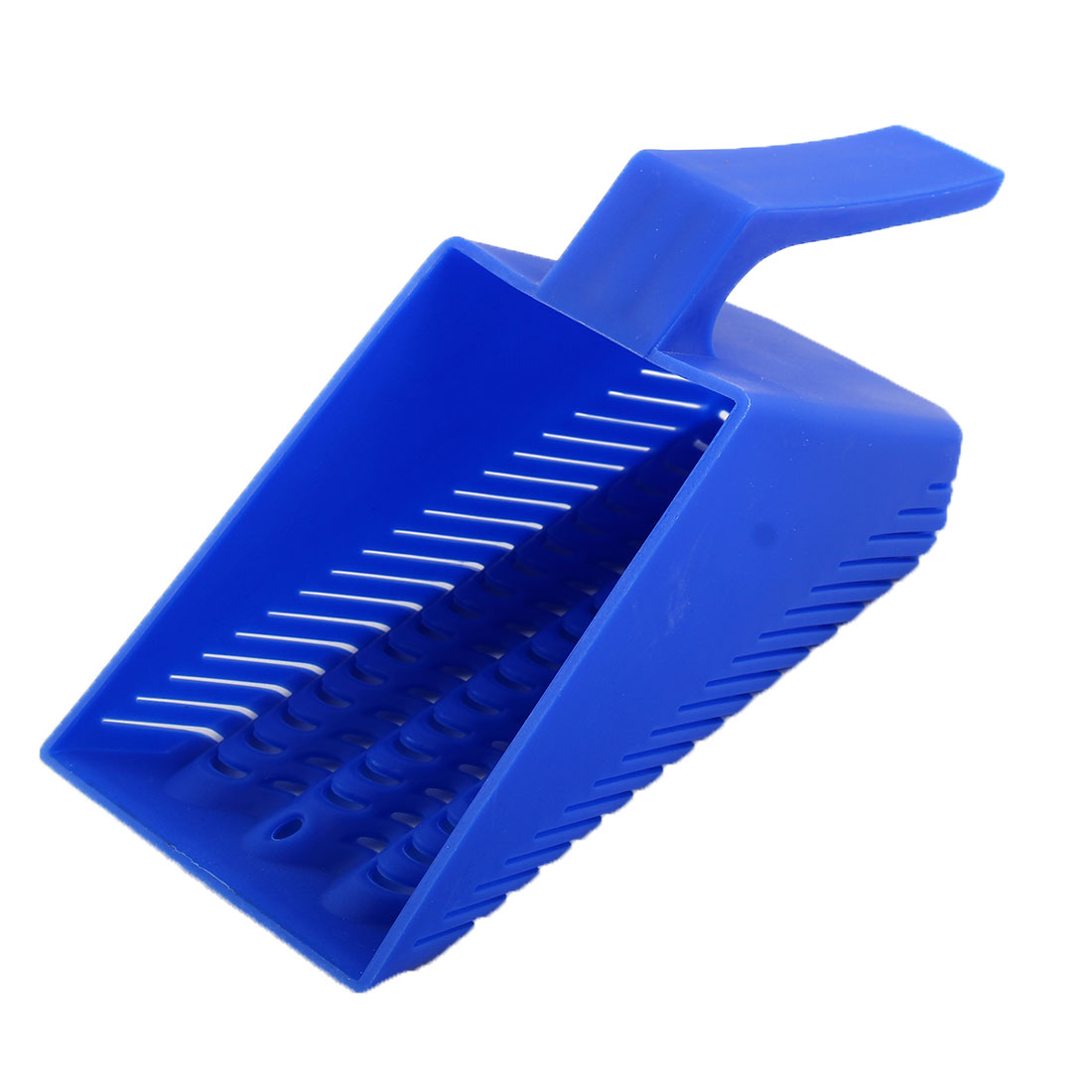 Aquarium Plastic Sand Scoop Scraper Gravel Cleaning Tool Grit Shovel Blue