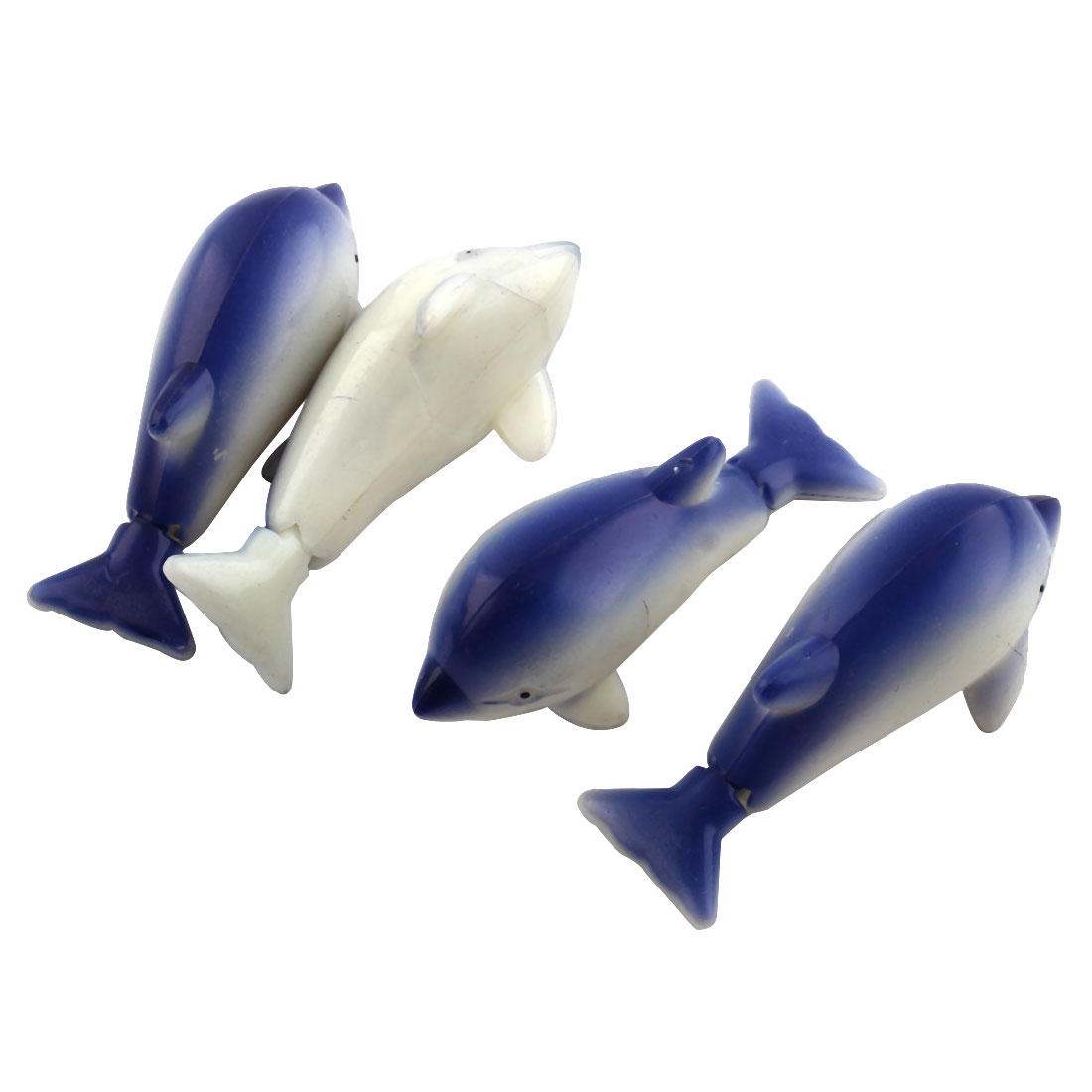 Aquarium Fish Tank Simulated Swing Tail Movable Dolphin Shaped Ornaments 4 Pcs