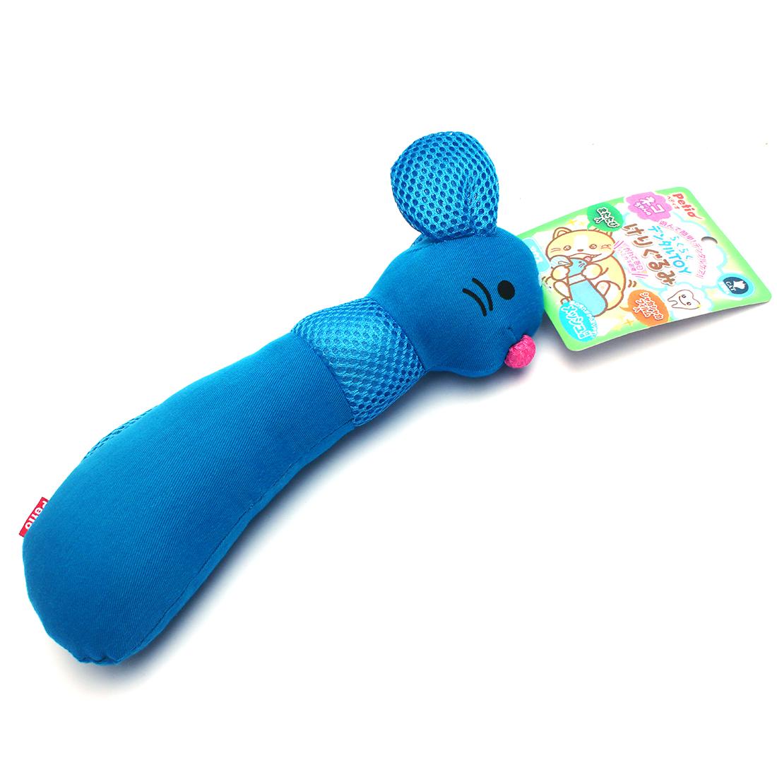 Petio Mouse Shape Silvervine Power Cat Kitty Chew Bite Toy Pillow Teeth Plush Blue