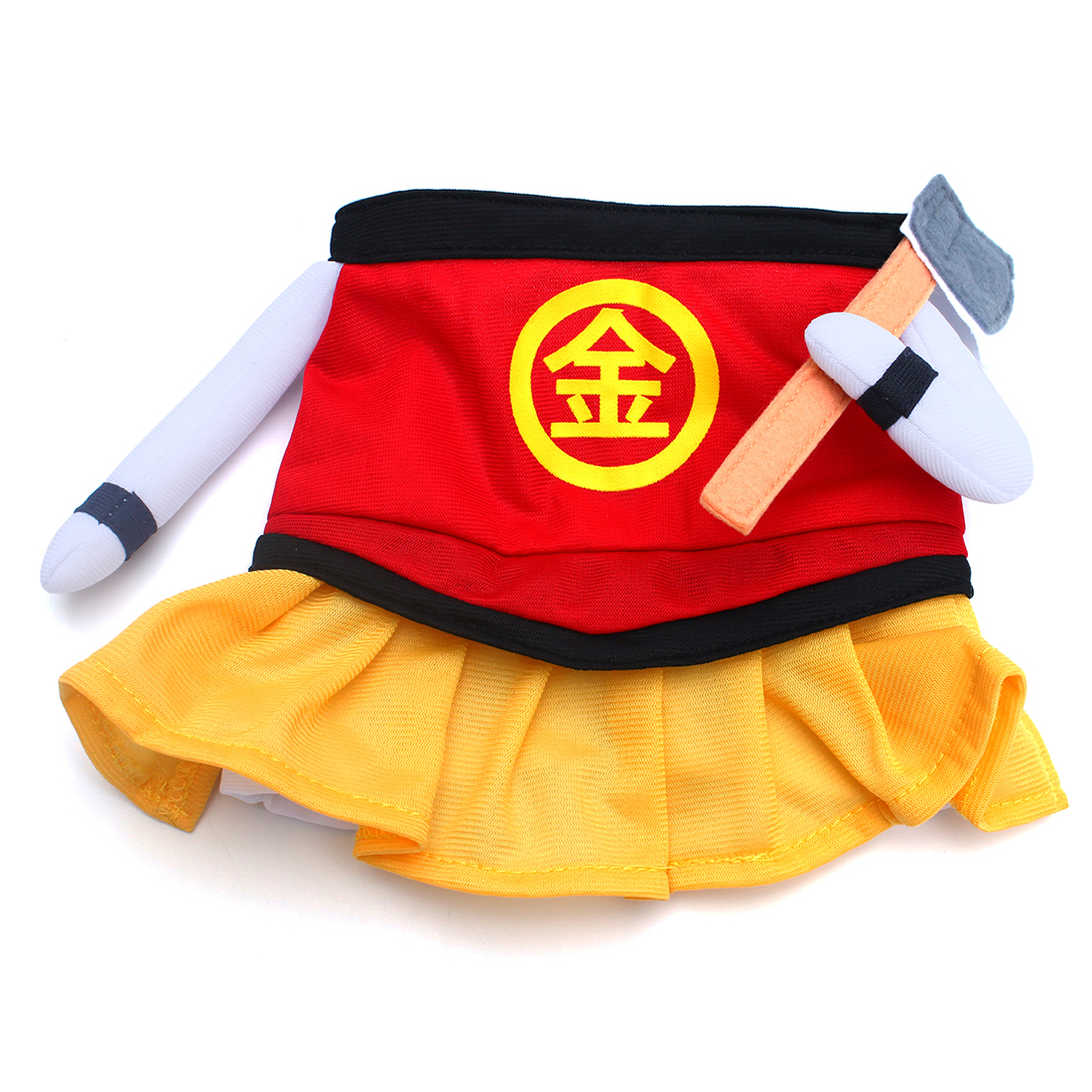 Petio Halloween Kintoki Dog Pet Dress Costume Size M Red Yellow