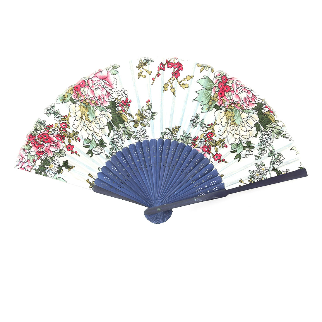 Lady Party Bamboo Frame Flower Pattern Folding Cooling Dancing Hand Fan Colorful
