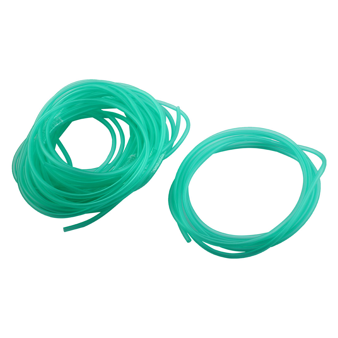 Fish Tank Aquarium Soft Plastic Airstone Pump Oxygen Tubing Hose Clear Green 3Meters Length 6 Pcs