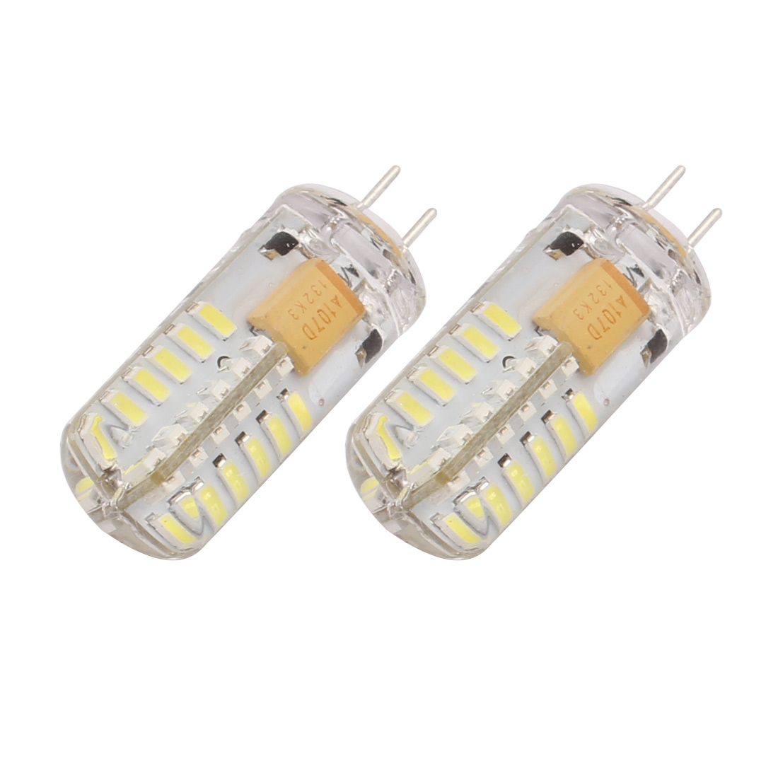 2Pcs AC/DC 12V 3W G4 3014SMD LED Corn Light Bulb 48-LED Silicone Neutral White