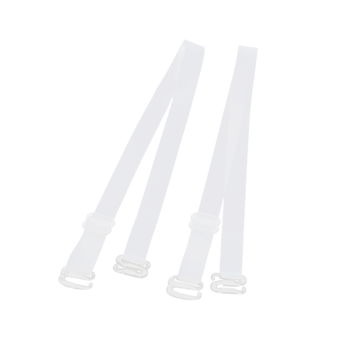1 Pair White Silicone Nonslip Adjustable 13mm Width Invisible Underwear Bra Shoulder Straps for Women