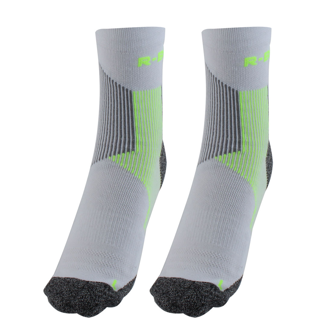 R-BAO Authorized Bicycle Jogging Mountain Bike Cotton Blend Compression Sports Cycling Socks Fluorescent Green L