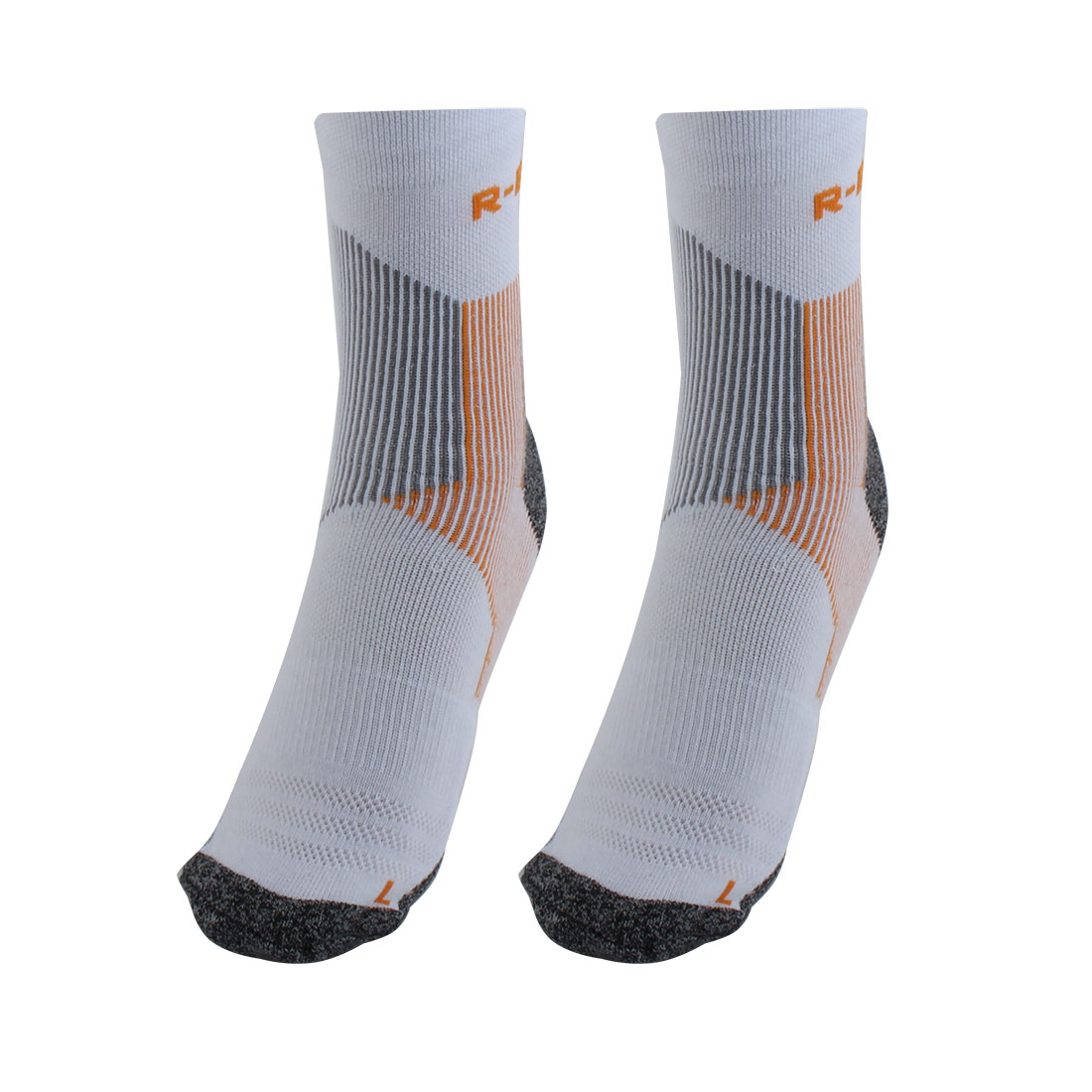 R-BAO Authorized Bicycle Jogging Mountain Bike Cotton Blend Compression Sports Cycling Socks Orange L