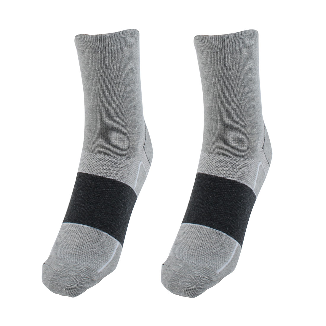 R-BAO Authorized Bicycle Basketball Mountain Bike Cotton Blend Breathable Sports Cycling Socks Gray Pair