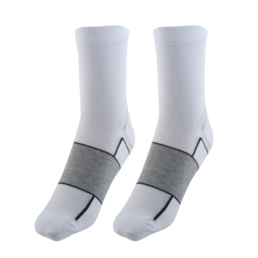 R-BAO Authorized Bicycle Basketball Mountain Bike Cotton Blend Breathable Sports Cycling Socks White Pair