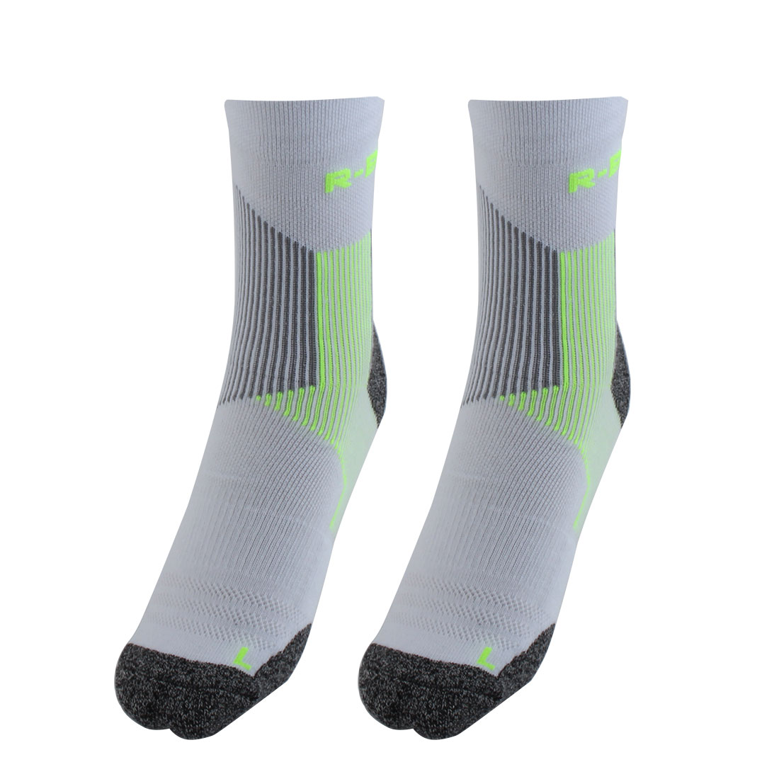 R-BAO Authorized Bicycle Tennis Mountain Bike Cotton Blend Breathable Sports Cycling Socks Fluorescent Green L