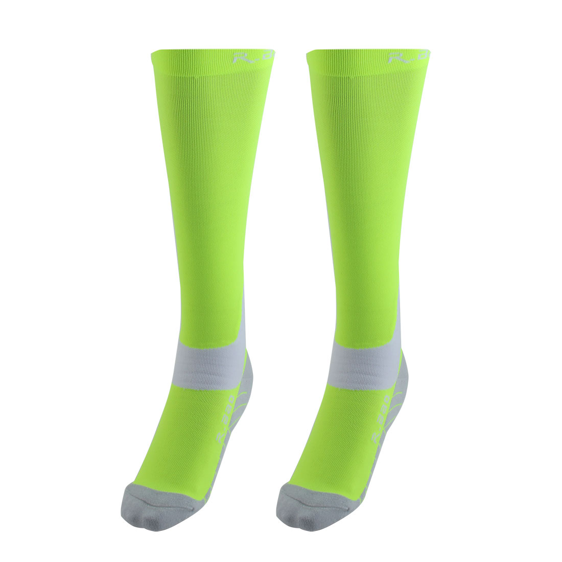 R-BAO Authorized Bicycle Running Mountain Bike Cotton Blend Breathable Sports Cycling Socks Fluorescent Green M