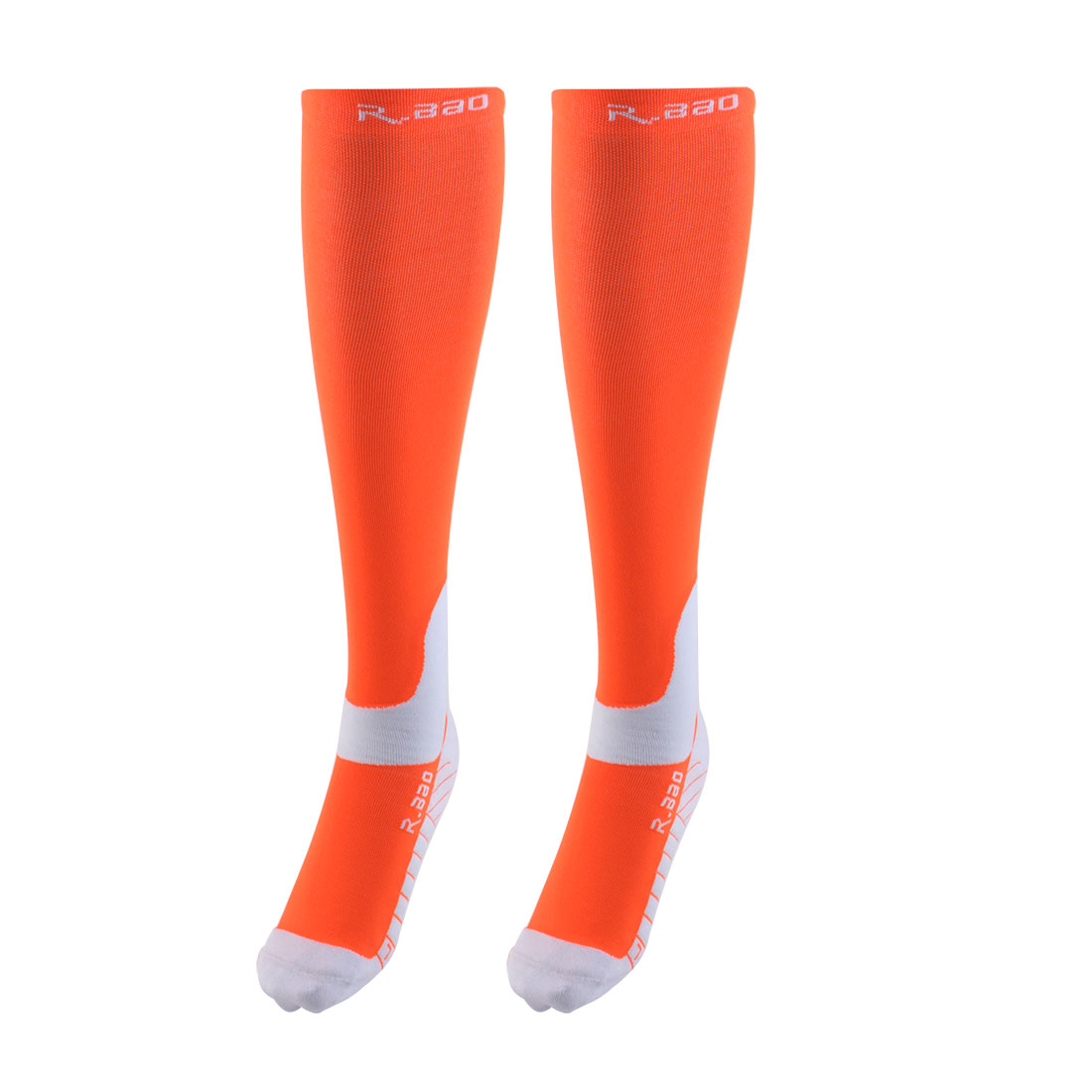 R-BAO Authorized Bicycle Running Mountain Bike Cotton Blend Breathable Sports Cycling Socks Orange L