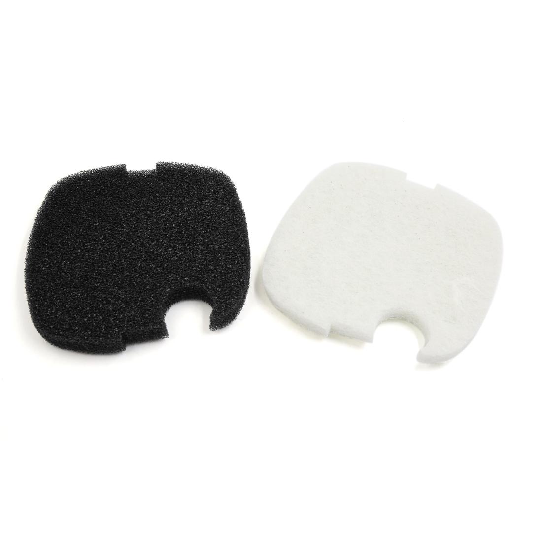 2pcs Aquarium Sponge Pad Prefilter Mat Black White for sunsun Canister Filter