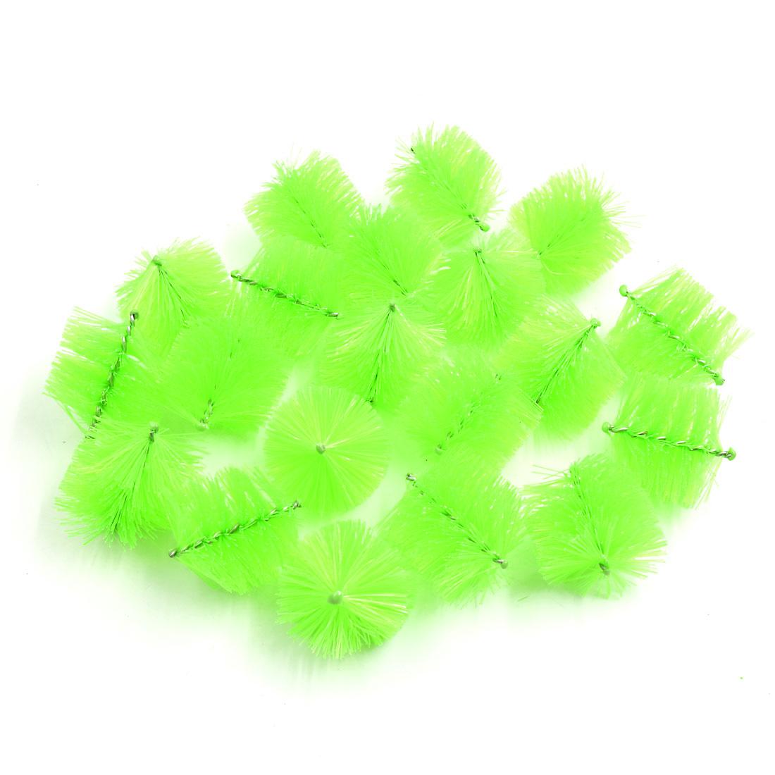 20pcs Light Green Plastic Mini Filter Cleaning Brush for Aquarium Fish Tank