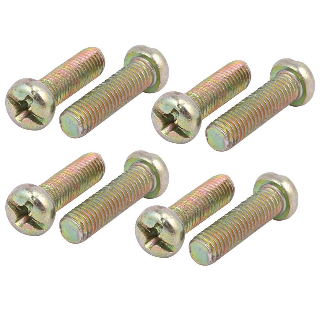 M5x17mm Metal phillips Head Left Hand Thread Screw for Cutting Machine 8pcs