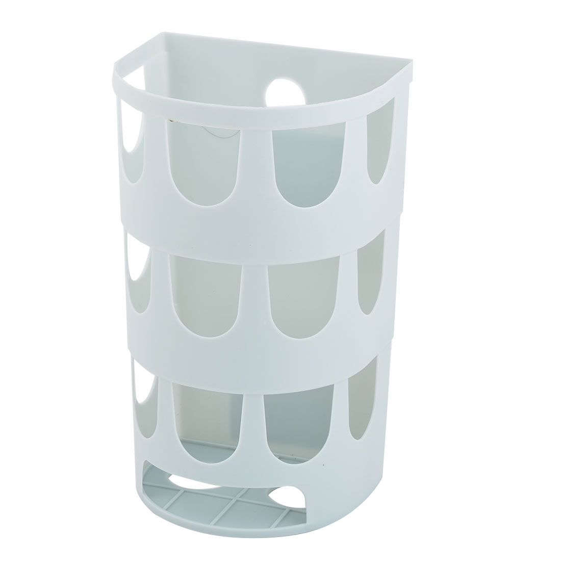 Home Plastic Self-adhesive Wall Mounted Waste Bag Sundries Storage Box Case Light Blue