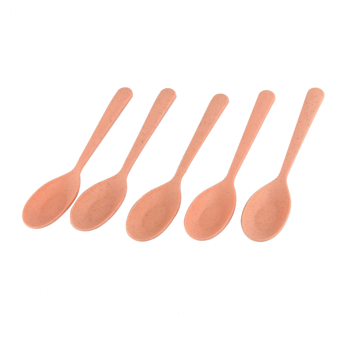 Dinnerware Tableware Plastic Porrige Soup Ice Cream Pudding Spoon Scoop Pink 5pcs