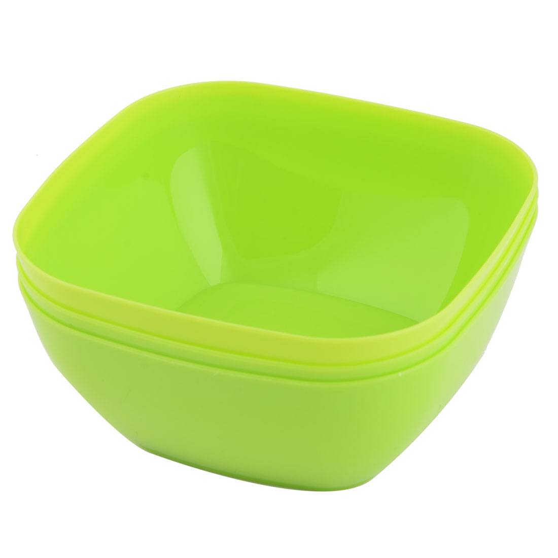 Home Refrigerator Plastic Square Fruit Foods Container Snacks Bowl Green 3pcs