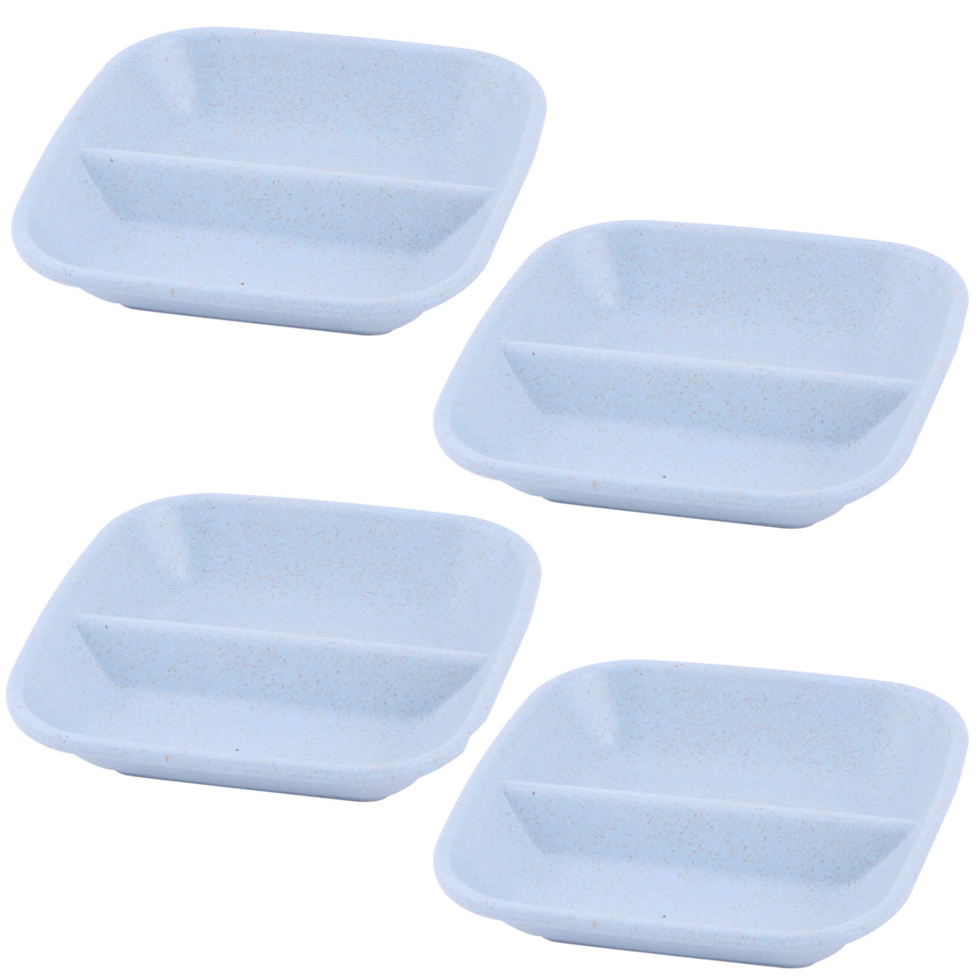 Household Kitchen Plastic Salt Sauce Garlic Pepper Holder Container Dish Blue 4pcs