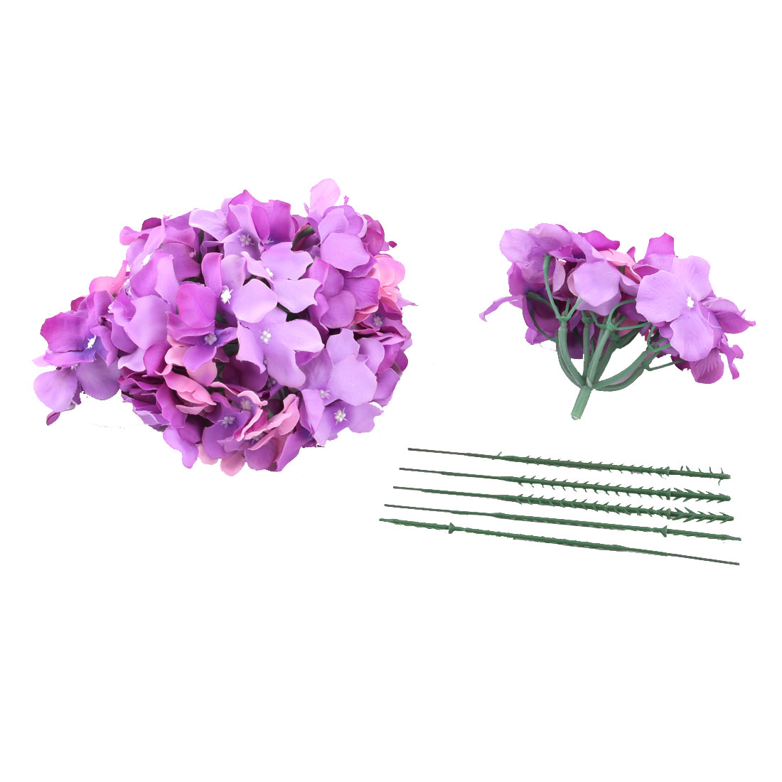 Festival Celebration Aritificial Flower Handcraft Garland Bouquet Decor Purple 5pcs