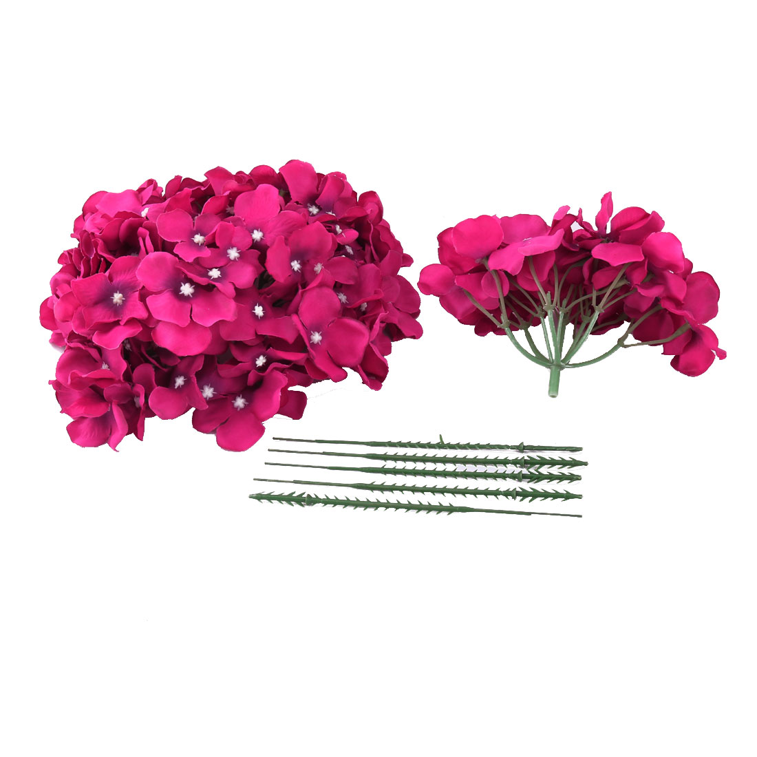 Festival Celebration Aritificial Flower Handcraft Garland Bouquet Decor Fuchsia 5pcs