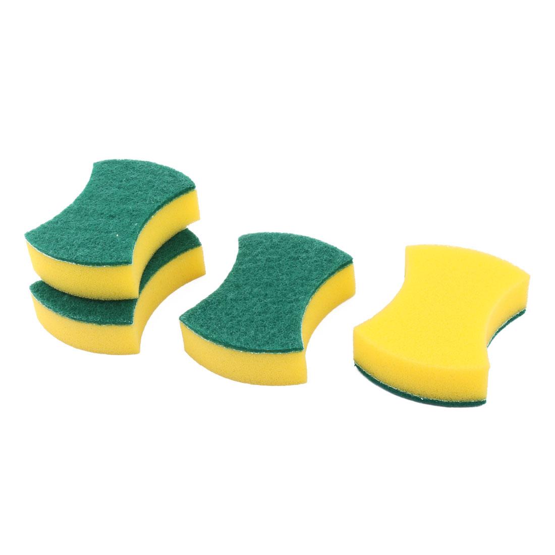 Home Sponge Bowl Plate Washing Tool Pot Pan Dishes Cleaning Pad Brush 4pcs