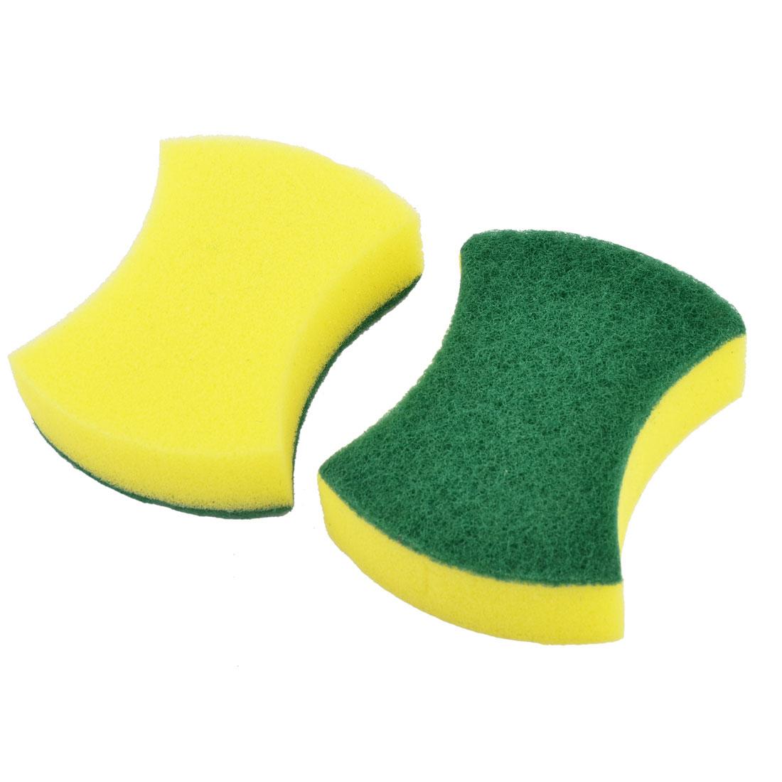 Home Sponge Bowl Plate Washing Tool Pot Pan Dishes Cleaning Pad Brush 2pcs