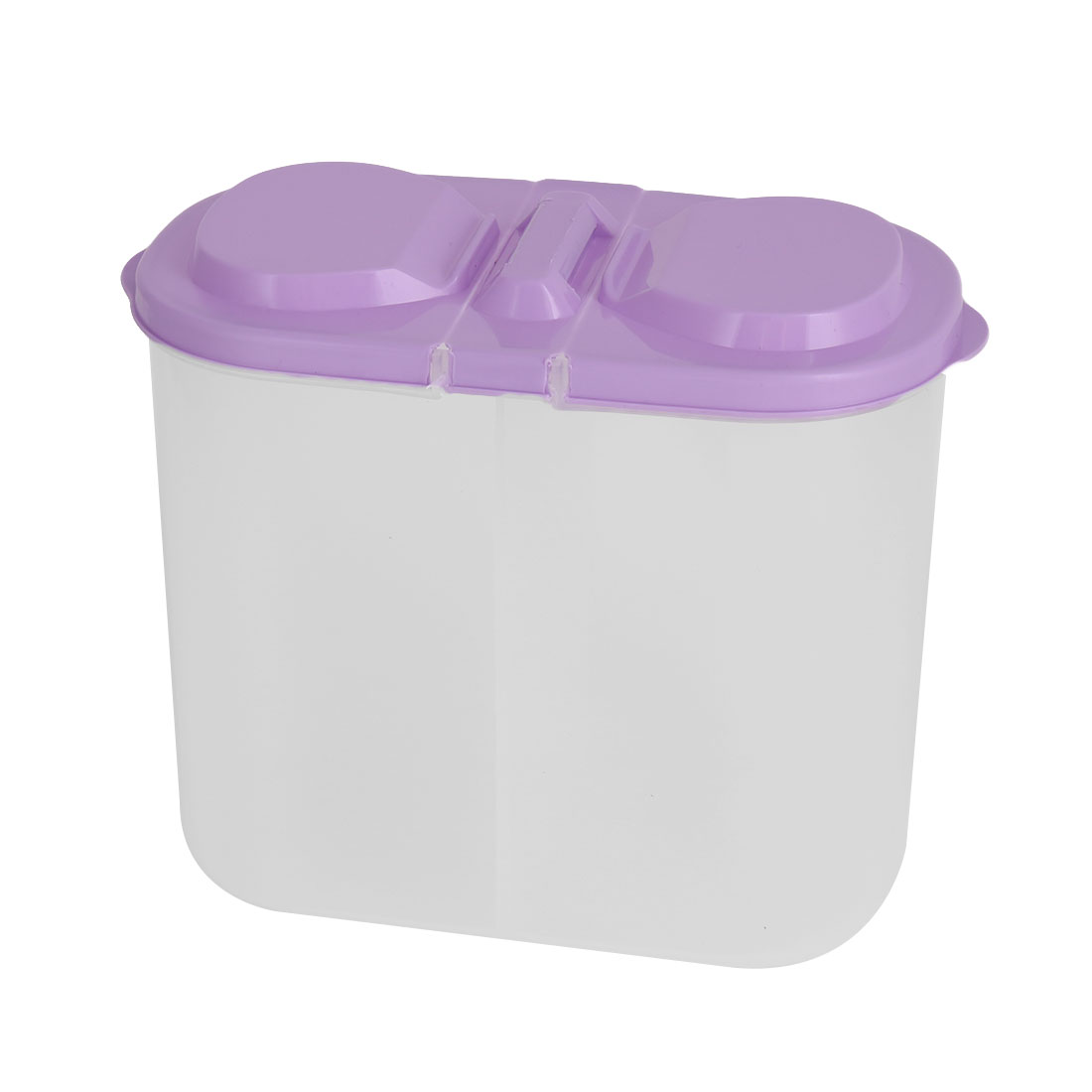 Household Plastic 2 Compartments Food Vegetable Fruit Storage Container Box Purple