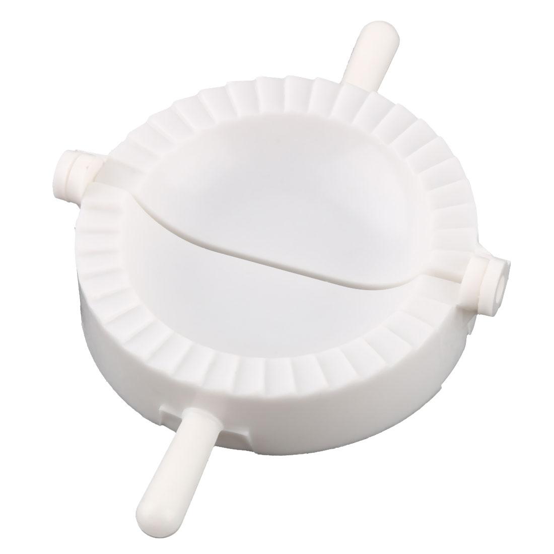Household Kitchenware Plastic Pie Wonton Pastry Dumpling Making Tool Mold White