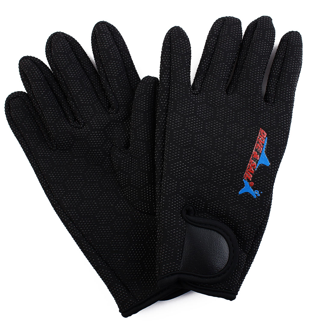 DIVE & SAIL Authorized Surfing Diving Water Sports Hexagonal Pattern Anti-slip Full Finger Hand Protector Gloves Pair Size M