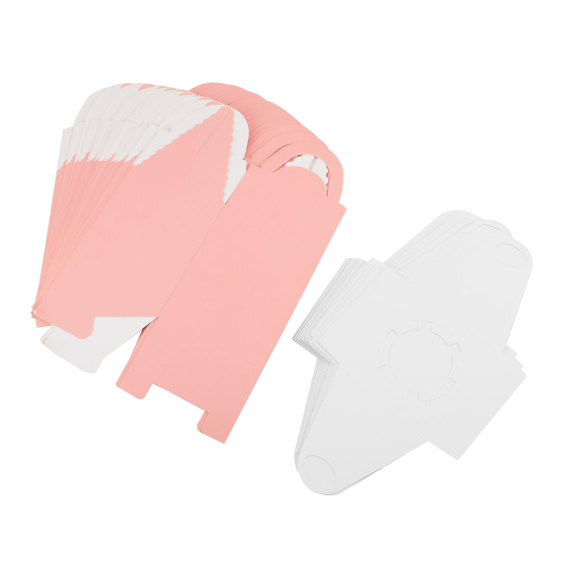 Birthday Bakery Paper Foldable Cake Cupcake Container Box Coral Pink 20pcs