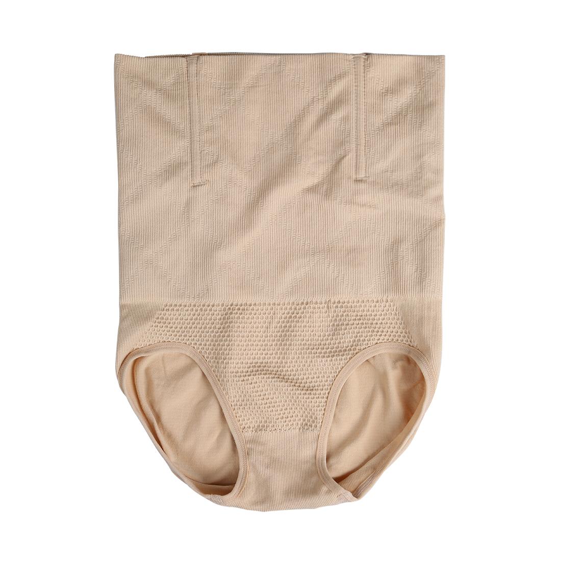 Women Tummy Control Shapewear Postpartum High Waist Brief Beige M/L