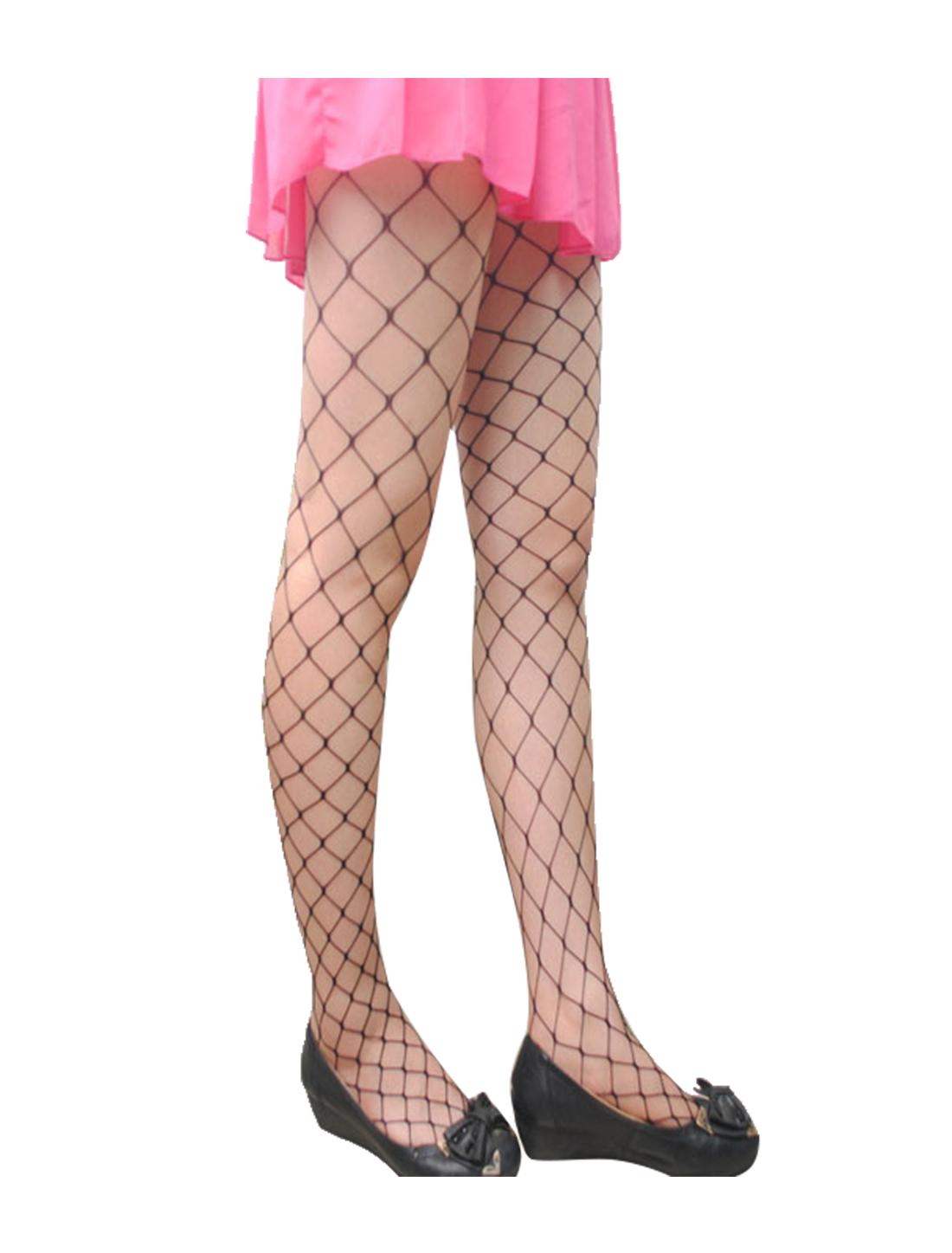 Women 2 Pack Trendy Strechy Fishnet Stockings Pantyhose Max Net Black