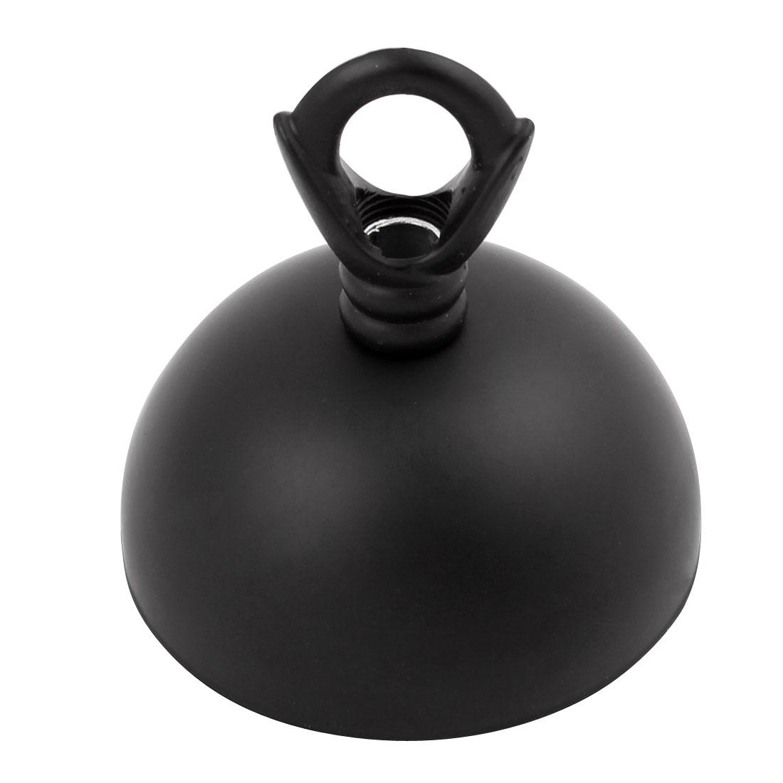 Lamp Base Ceiling Hook Plate Holder Light Bulb Fitting Accessory 60mm Dia Black