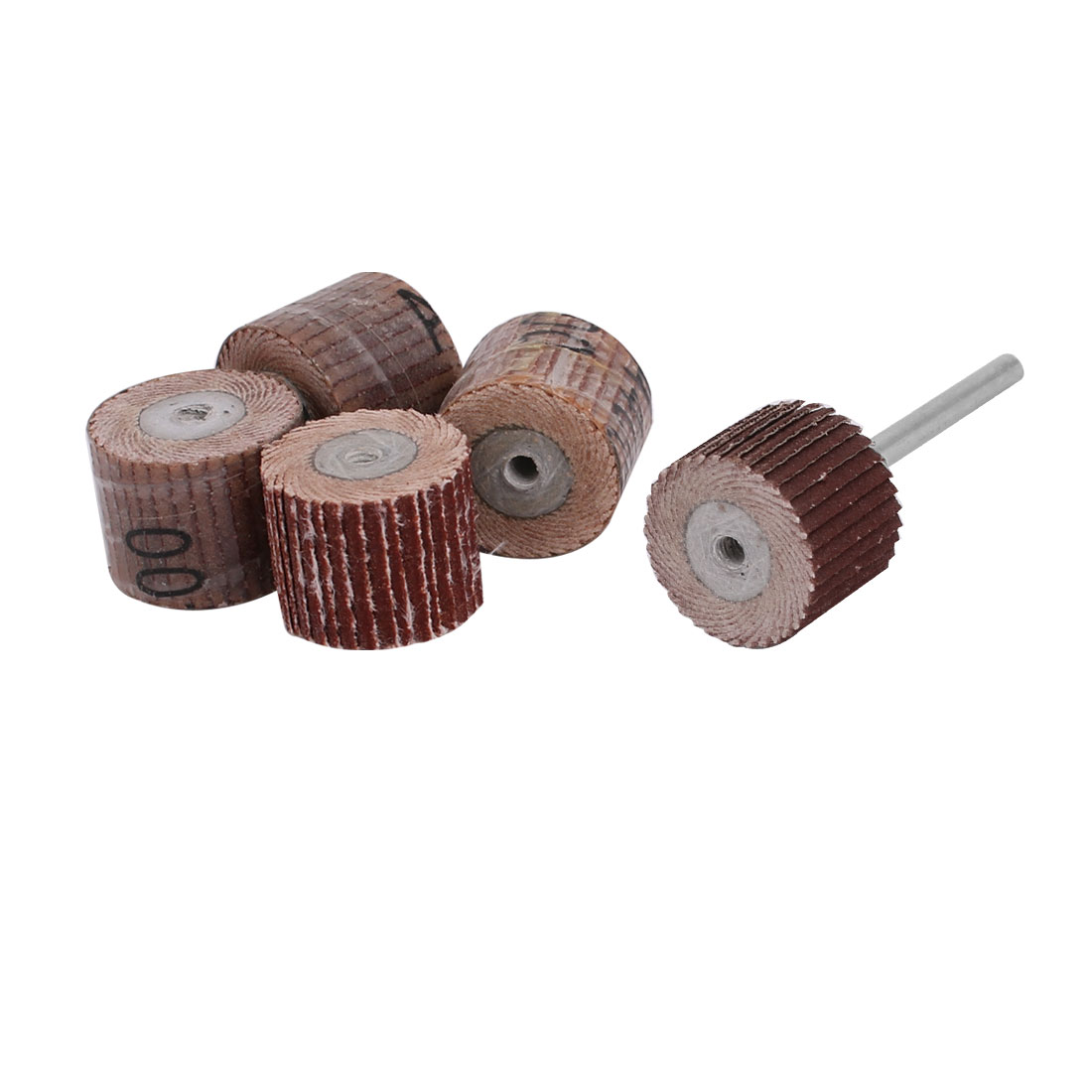 5pcs 15mm Dia 400 Grit Sandpaper Flap Sanding Wheel Grinding Head w Mandrel