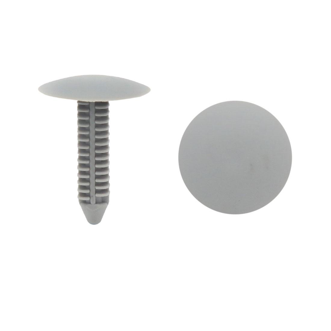 40 Pcs 7mm Hole Gray Plastic Car Door Panel Retainer Clips Rivet Fastener