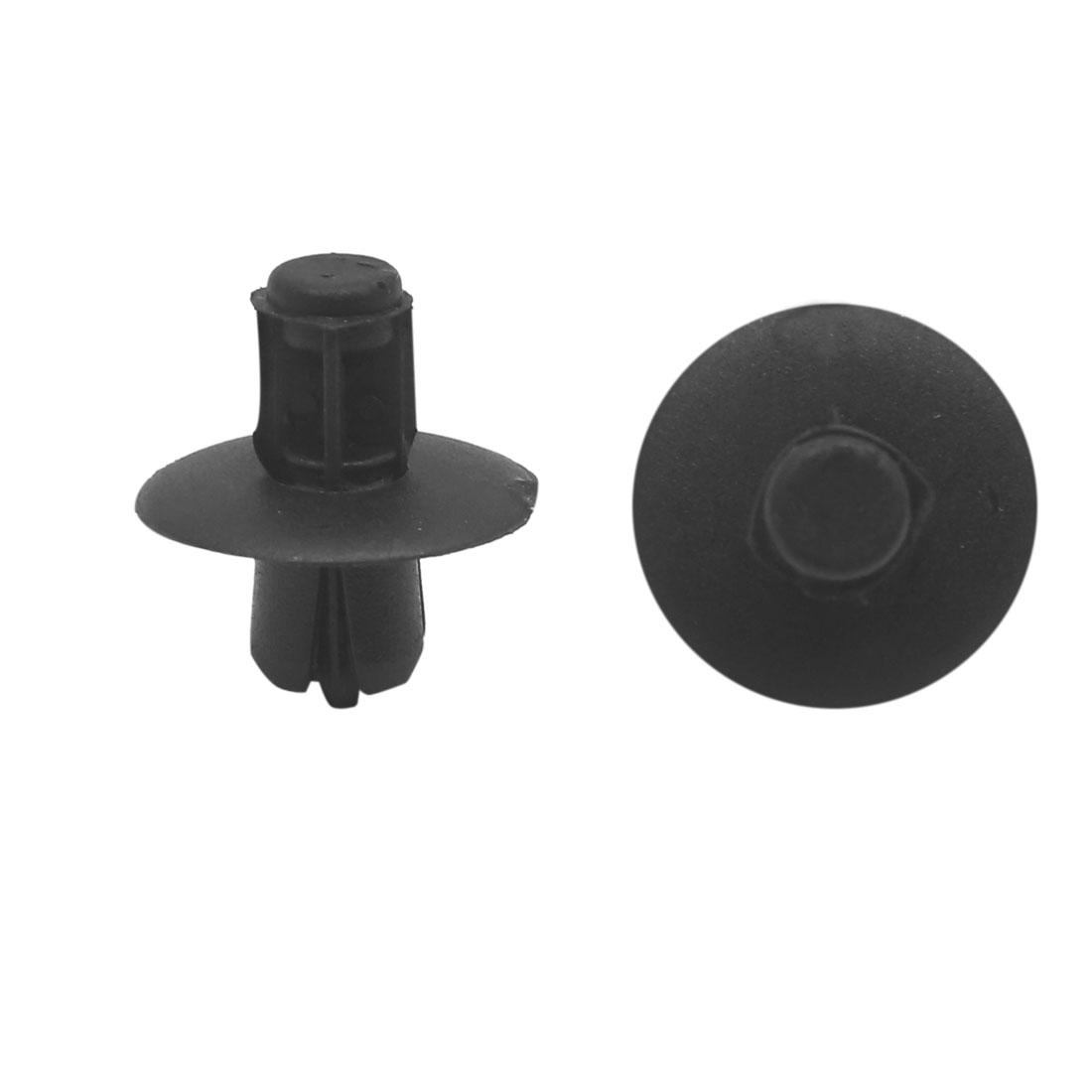 19 Pcs 8mm Hole Black Plastic Push in Rivet Car Door Panel Retainer Clips