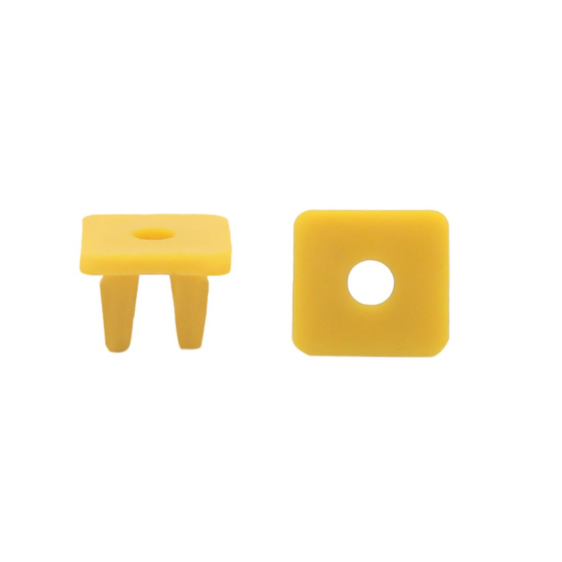250 Pcs Yellow Plastic Rivets Fastener Retainer Clips for Car Trunk Door Panel