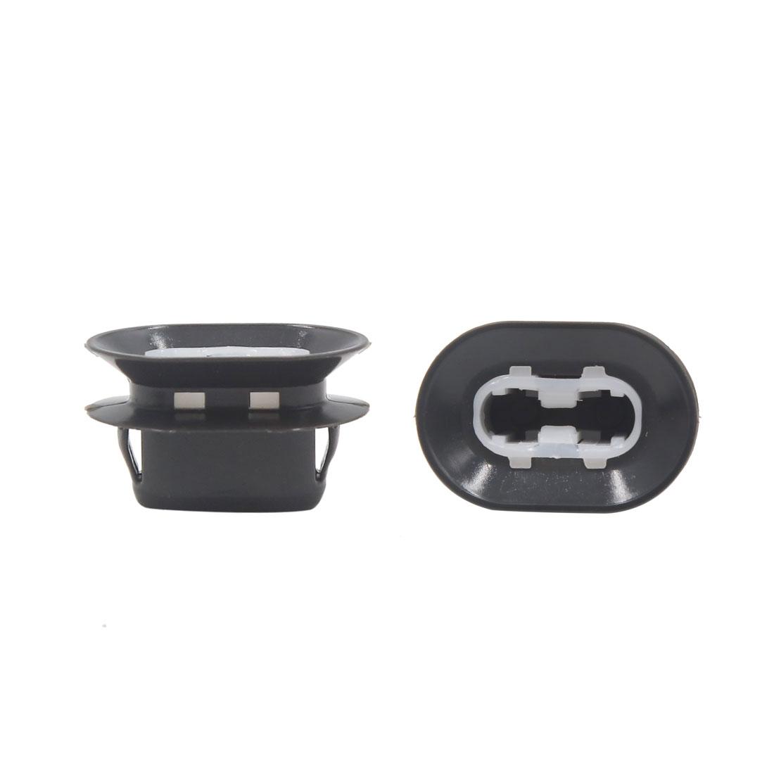 10 Pcs Universal Black Plastic Retainer Seat Buckle Clip for Car Vehicle